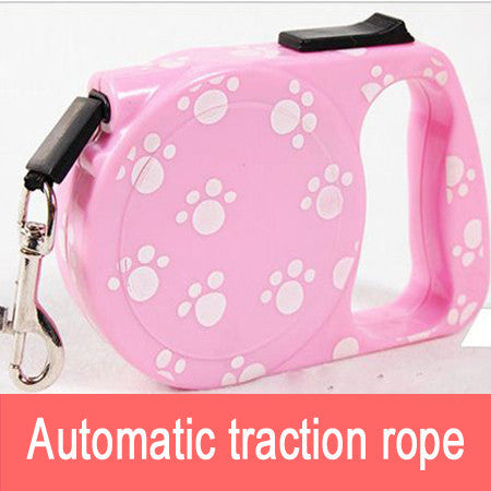 New Automatic retractable dog traction rope pet products retractable leashes colorful stripes shall 3M