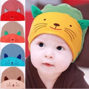 New Baby Cap Fashion Infant Hat Boys & Girls Skull Cat Hats Kids Hats Children Cotton Homies Animal Caps