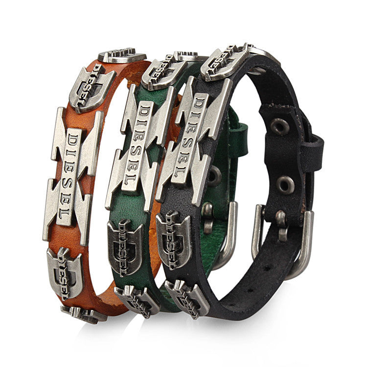 New Colors Options Punk Rock Woman Genuine Leather Bracelet Bracelets