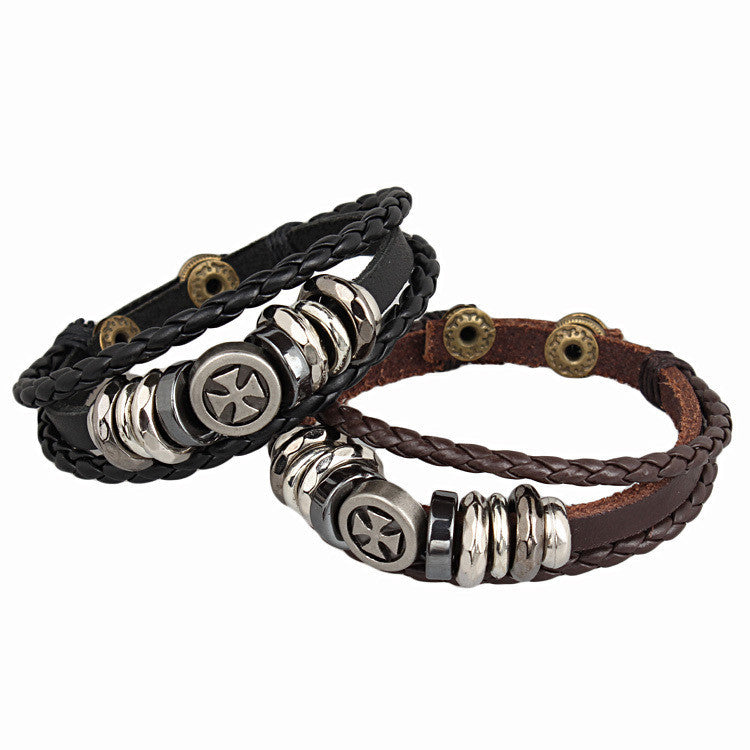 New Coming Cross Bracelet New Fashion Men Women Bracelets Genuine Leather Bracelet