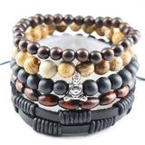 Fashion Jewelry Men Bracelets Handmade DIY Beads Women Charm Bracelets & Bangles Leather Wrap Accessories Party Gifts Birthday