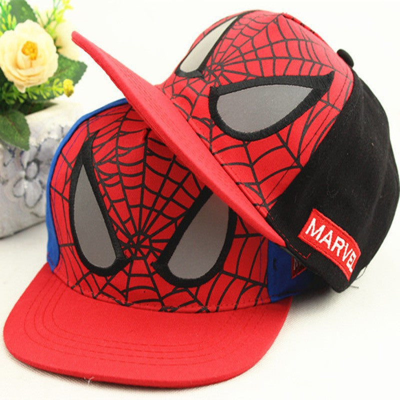 New Fashion Children Cartoon Spiderman Baseball Caps Snapback Adjustable Children's Sports Hats Fit For 48-53cm