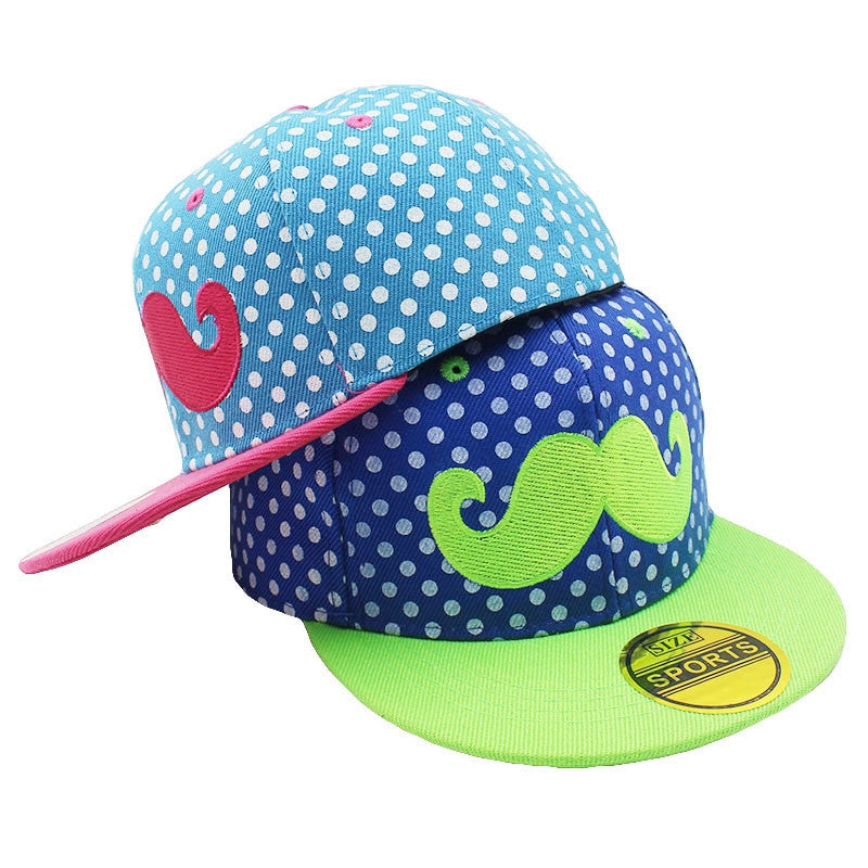 New Fashion Unisex Kids Adjustable For 3-8 Years Old Children Canvas Beard Hip-Hop Baseball Caps Boys Girls Snapback Cap