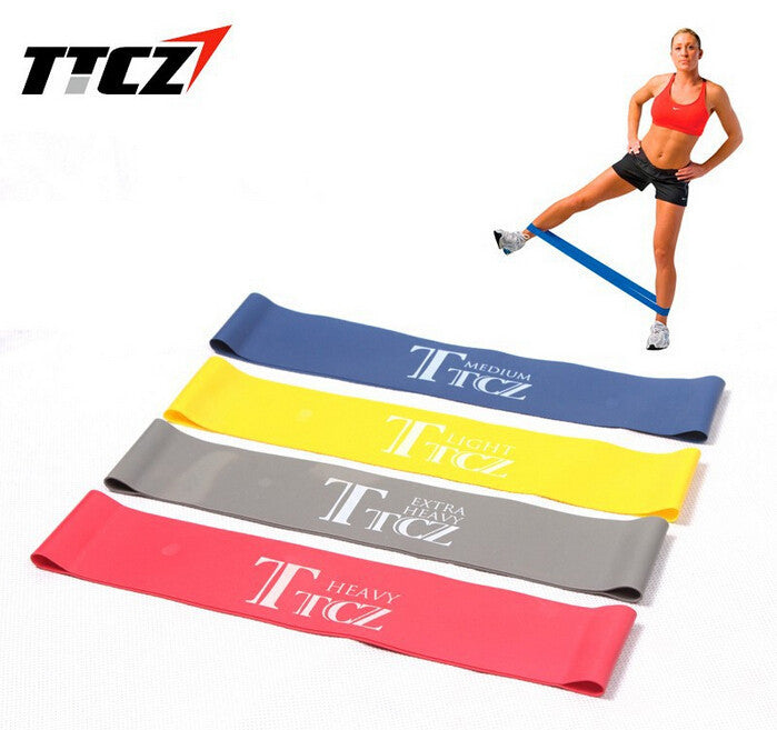 4pcs/lot 4 Levels Available Pull Up Assist Bands Crossfit Exercise Body Ankle Fitness Resistance Loop Band