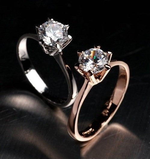 Real Italina Rigant Genuine Austria Crystal 18KRGP gold Plated Rings for Women