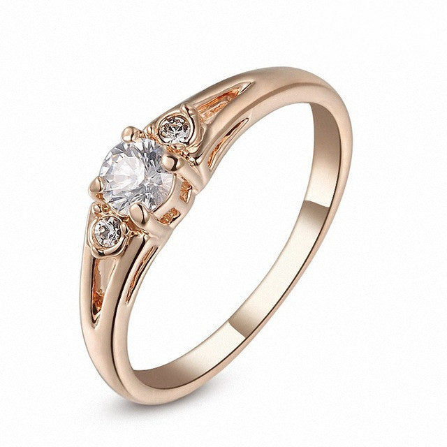 New Sale Real Italina Rings for women Genuine Austrian Crystal 18KRGP Gold Plated Fashion ring Zirconia