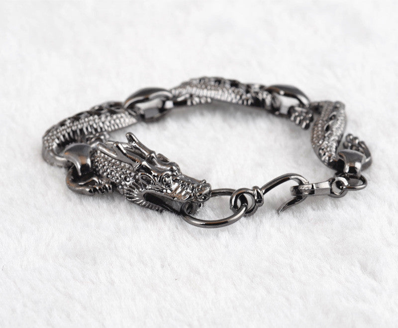 New Vogue Bracelet TOP Quality Silver Male Vintage Accessories Fashion Style Dragon Bracelet.Men Women Punk Jewelry Bijoux