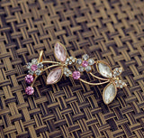 New crystal rhinestone Insect butterfly rose ear cuff clip earring Top quality fashion jewelry gift for women girl