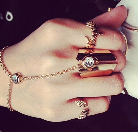 New fashion jewelry cool chain link midi finger ring gift for women girl