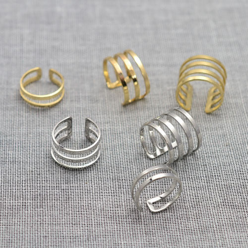 New fashion jewelry hollow finger ring gift for women girl size adjustable 1lot=3pcs