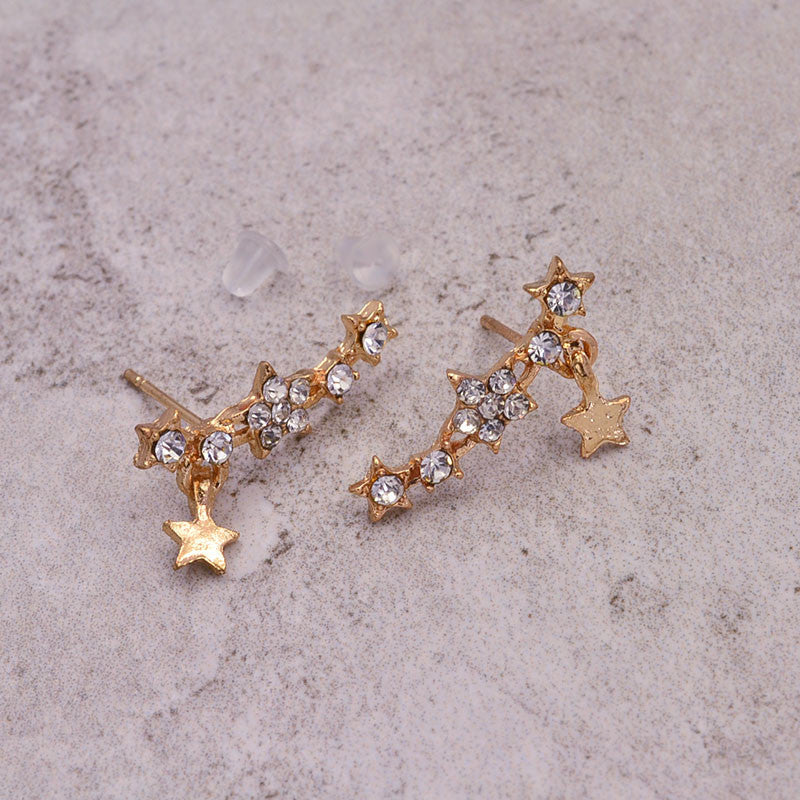 New fashion jewelry rhinestone star stud gift for women girl