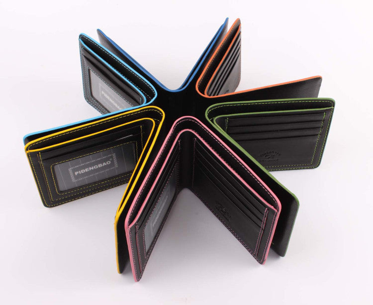 New fashion wallet brand cute wallets waterproof men wallets billfold colorful leather man purses for male