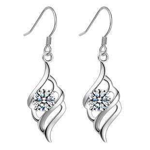 New Angel Wing Earring,925 Sterling Silver Material,gemstone jewelry Genuine SWA Elements