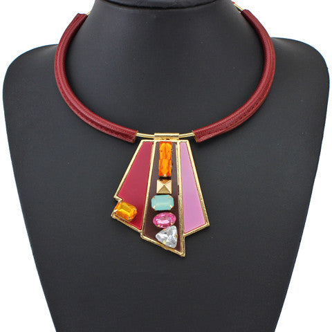 New Arrival Geometry Acrylic Necklaces & Pendants Unique Women Maxi Collar Statement Necklace Jewelry Accessories