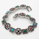 New Arrival Jewelry Tibet Silver Multi-Color Resin Bracelets European Women's Bracelets