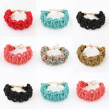 New Bohemia Retro Bracelet For Women Pure Handmade Bead Multicolor Charm Vintage Cuff Bracelets & Bangles Fine Jewelry