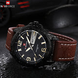 New Brand Men Leather Strap Sports Watches Men's Quartz Clock Man Army Military Fashion Casual Waterproof Wrist Watch