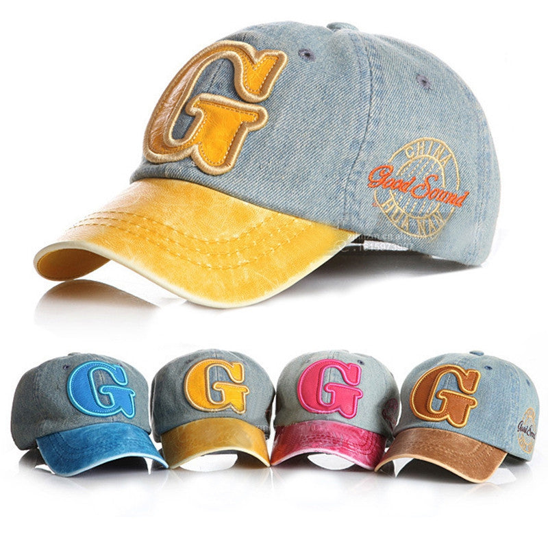 Cowboy Summer Camps Kids Letter Baseball Caps Children Cotton Adjustable Hip Hop Snapback Hats Cool Sun Caps