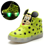 New European fashion cute LED lighting children shoes hot sales Lovely kids sneakers high quality cool boy girls boots