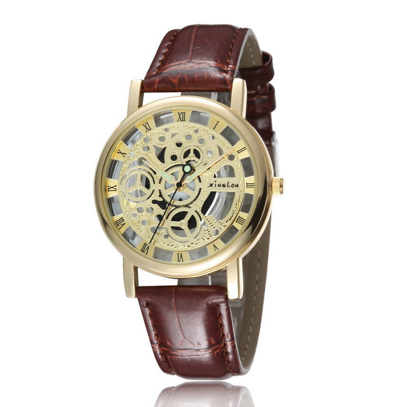 New Famous Brand Winner Luxury Fashion Casual Stainless Steel Men Quartz Watch Skeleton Watch For Men Dress Wristwatch