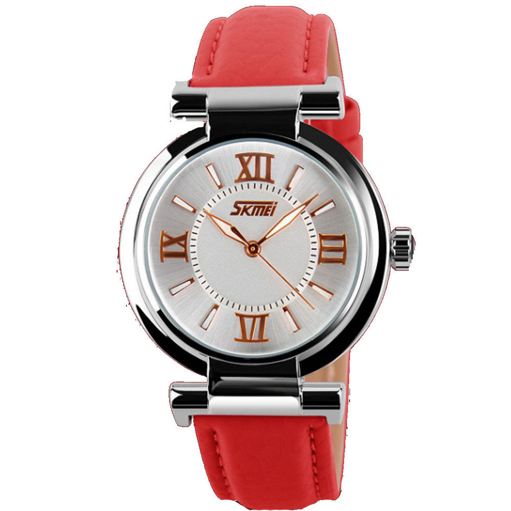 New Fashion Brand Genuine Leather Strap Women Dress Watches Quartz Watch Waterproof Clock Wristwatch