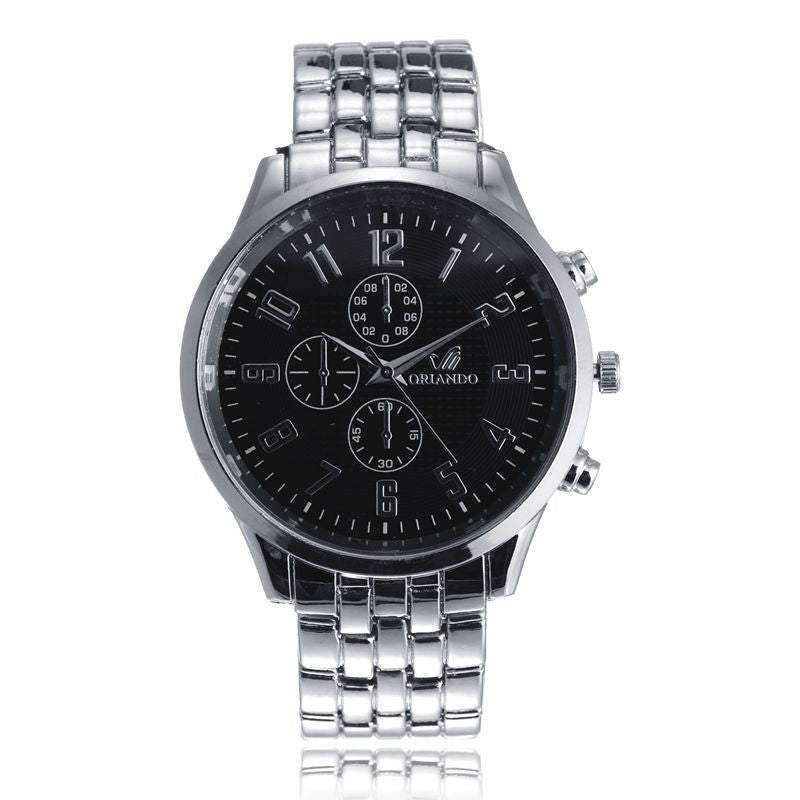 New Fashion Top Quality Stainless Steel Geneva Women Watches Quartz Watch Men's watch