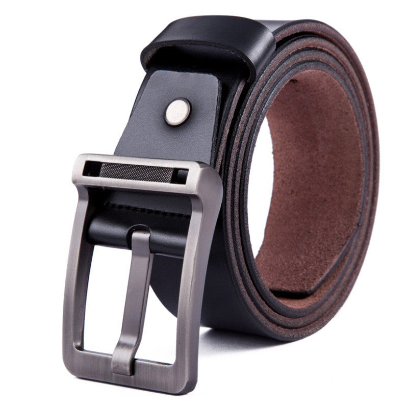 New Men's fashion belt brand genuine leather men belt buckle casual riem high quality ceintures homme