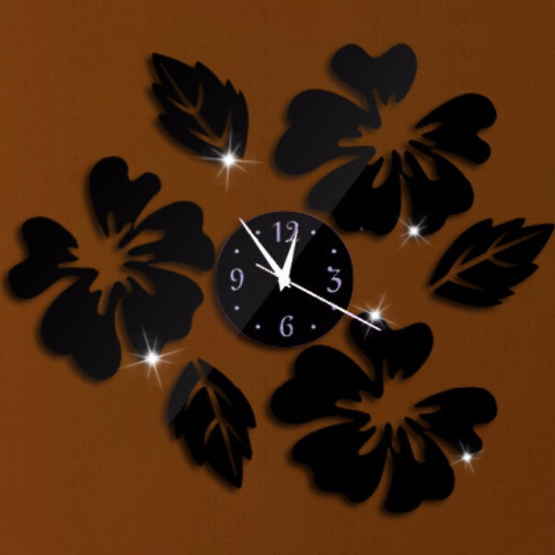 New Quartz Watch Wall Clock Acrylic Horloge Clocks Modern Design Large Decorative Living Room Multi-piece Set
