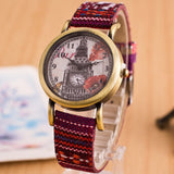 New Style Women Watch New Fashion Trendy Casual Watch Braid Multicolor Leather Quartz Watch Vintage Ethnic Wristwatch