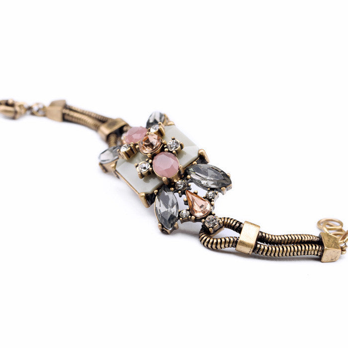New Styles Fashion Jewelry Resin Plant Antique Charm Bracelet