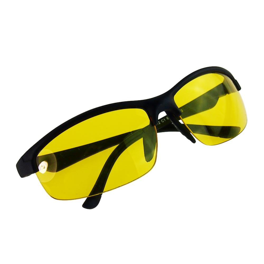 New arrival Plastic + Resin HD High Definition Night Vision Glasses Driving Yellow Lens Classic UV400