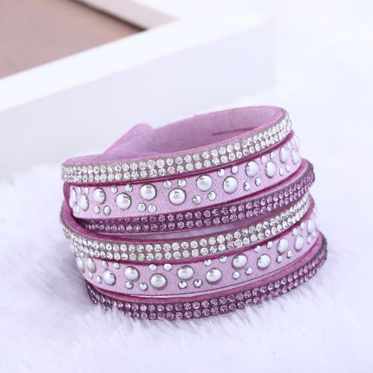 Fashion and personality leather bracelet multilayer bracelet women jewelry