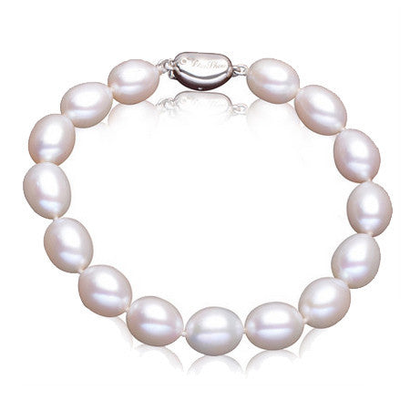Normal quality 9-10mm natural freshwater pearl bracelet for women new fashion charm bracelet