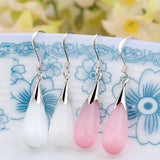 One pair of opal earrings drops new fashion long Drop earrings Sample Jewelry for girl women