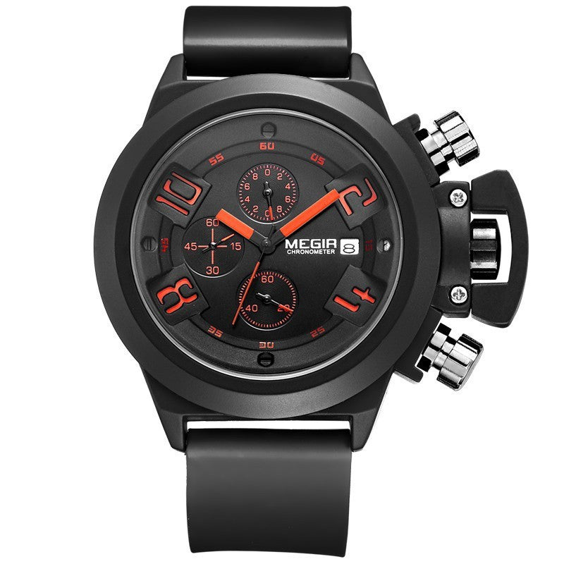 Original MEGIR CHRONOGRAPH 24 Hours Function Men's Sport Watch Silicone Wrist Watch Army Military Watch Montre Homme Reloj