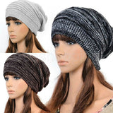 Hot Fashion Women Ladies Unisex Winter Knit Plicate Slouch Cap Hat Knitted Skullies Beanies Casual Ski