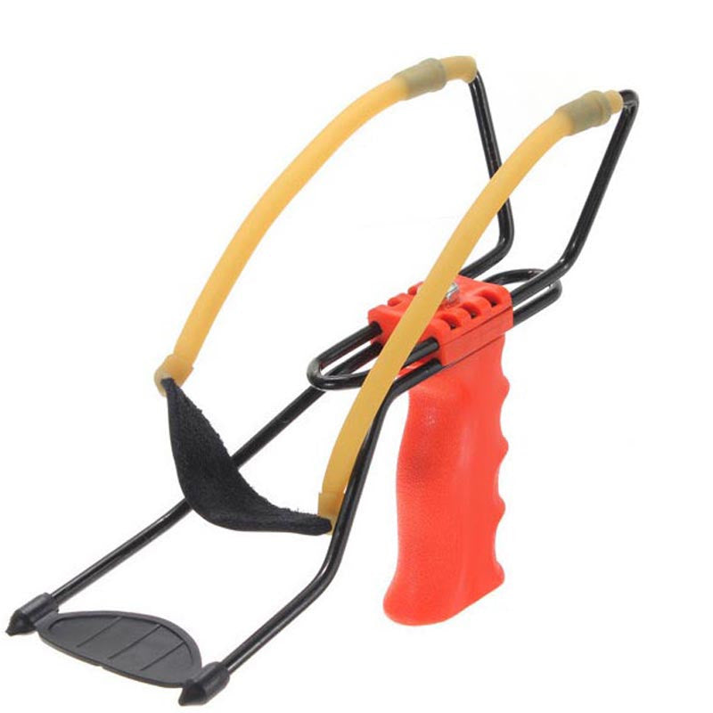 Pocket powerful catapult velocity Foldable Wrist Support Sling Shot Slingshot Outdoor Hunting Fishing Red barnett sling shot