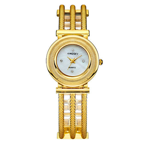 Popular Brand Female Clock Ladies Fashion Casual Quartz Watch Silver Stainless Steel Rhinestone Women Dress Watches Relogio