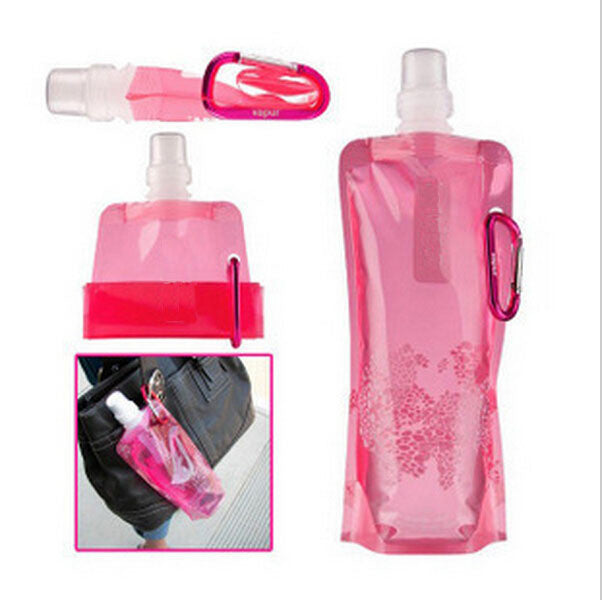 Portable folding sports water bottle/foldable water bottle 480ml(16oz)(5 colors) 5pcs/lot