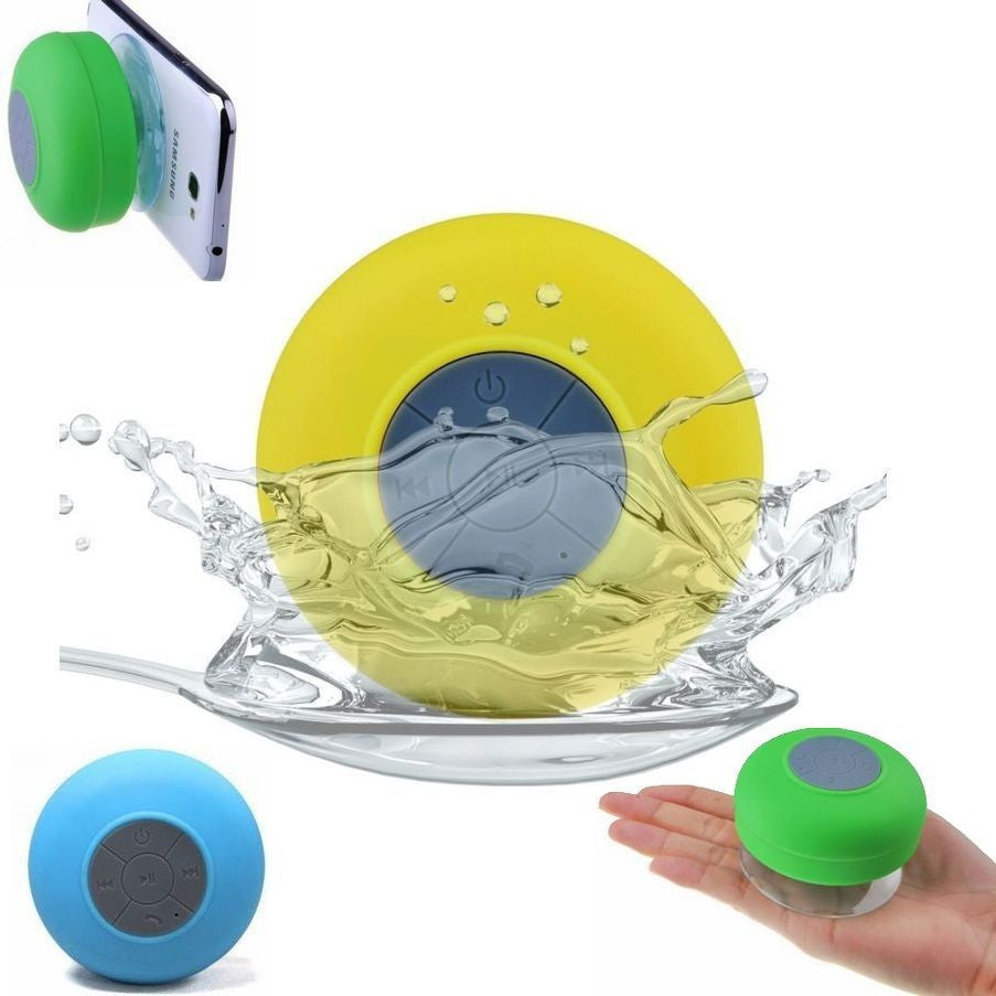 Portable Waterproof Wireless Bluetooth Shower Speaker With Mic Mini Loudspeakers Music Car Speakers