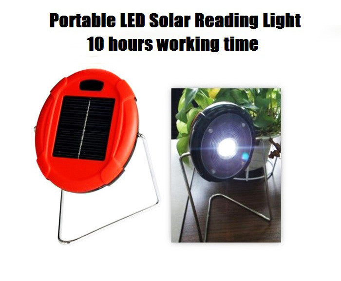 Portable LED solar reading light, Solar Camping Light, solar powered indoor light & solar desk lamp