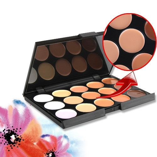 Professional 15 Color Camouflage Concealer Make Up Cream Palette