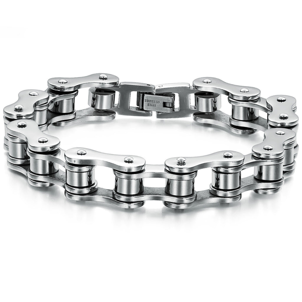 Fashion Jewelry Punk 316L Stainless Steel Bracelet Men Biker Bicycle Motorcycle Chain Men's Bracelets Mens Bracelets & Bangles