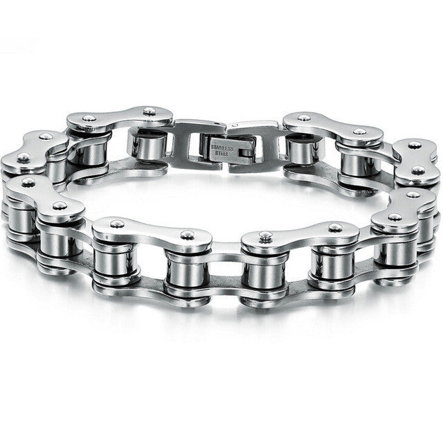 Punk Stainless Steel Bracelet Men Biker Bicycle Motorcycle Chain Men's Bracelets Mens Bracelets & Bangles Fashion Jewelry
