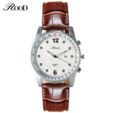 ROOD Sport Watches Military Army men watch luxury brand men watch leather waterproof Brown Black Big Dial Male Clock