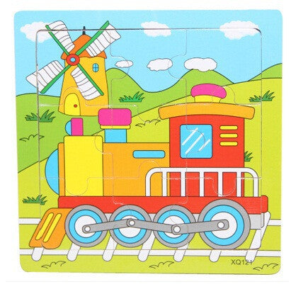 HOT 15*15*0.5cm Wooden Kids Jigsaw toys for Children Education and Learning Puzzles toys & Style random