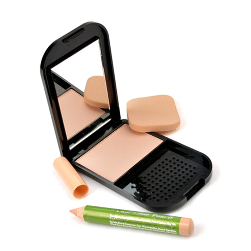 Rosalind Professional Face Makeup Pressed Powder with Concealer Pencil Compact Powder Brand M.N
