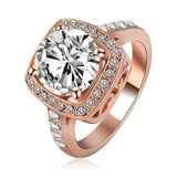 Rose Gold /Silver Plated SWA Element Austrian Crystal Engagement Rings