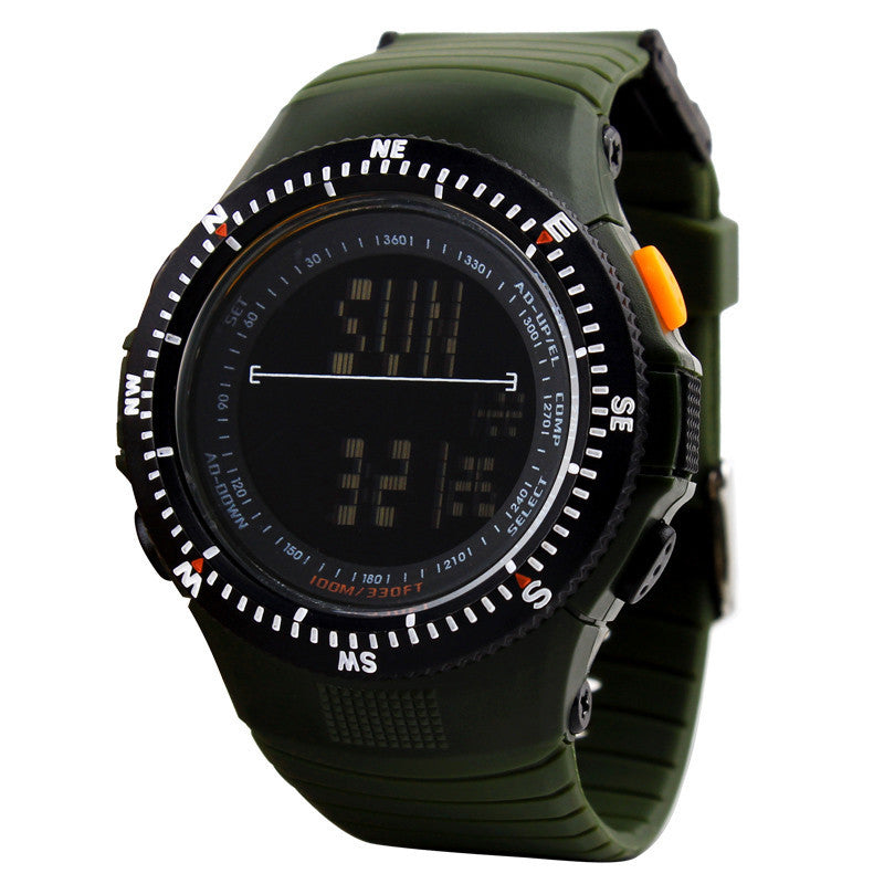 SKMEI 50M Waterproof Resin Strap Digital Watch Outdoor Army Military Watches Dual Time Chronograph Sport Watch digital-watch