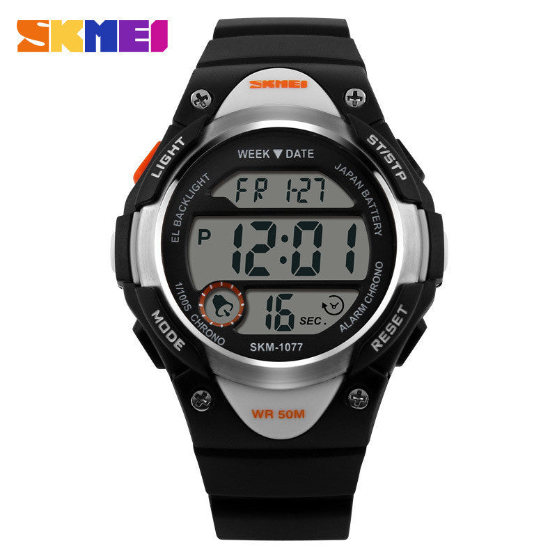 SKMEI Children Watches Cute Kids Watches Sports Cartoon Watch for Girls boys Rubber Children's Digital LED Wristwatches